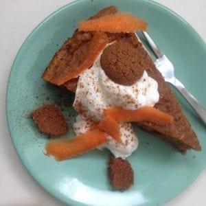 eiwitrijke carrotcake met pepernoten