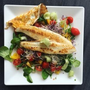 lunchen met tilapia