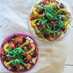 bloemkool en bietenpizza
