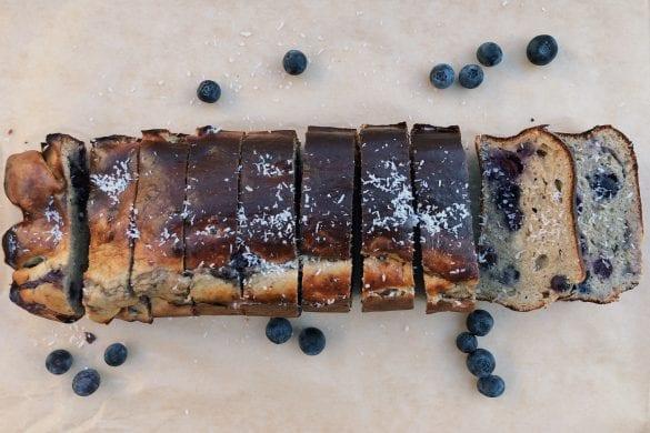 Bananenbrood met blauwe bessen