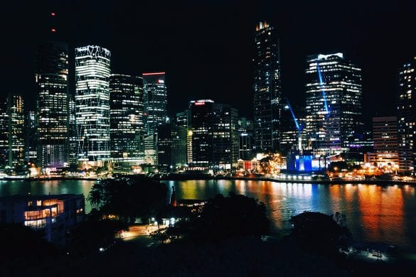 Brisbane by night