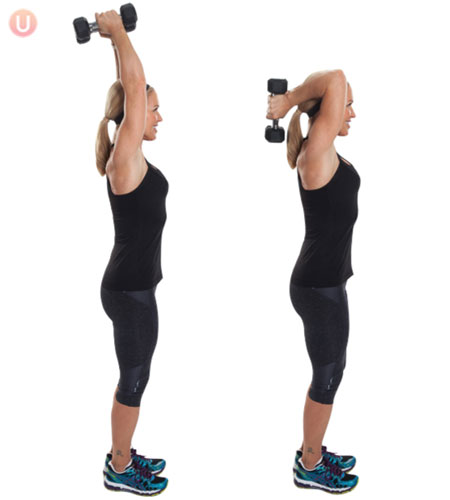 Tricep Overhead Extension Exercise