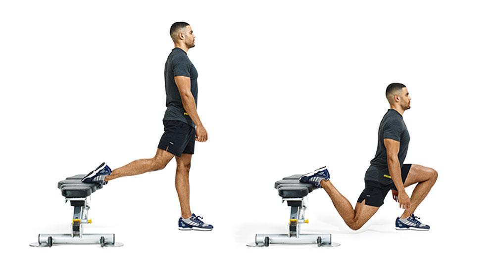 bodyweight workout 1 2 bulgarian split squat