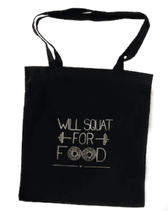 will squat for food