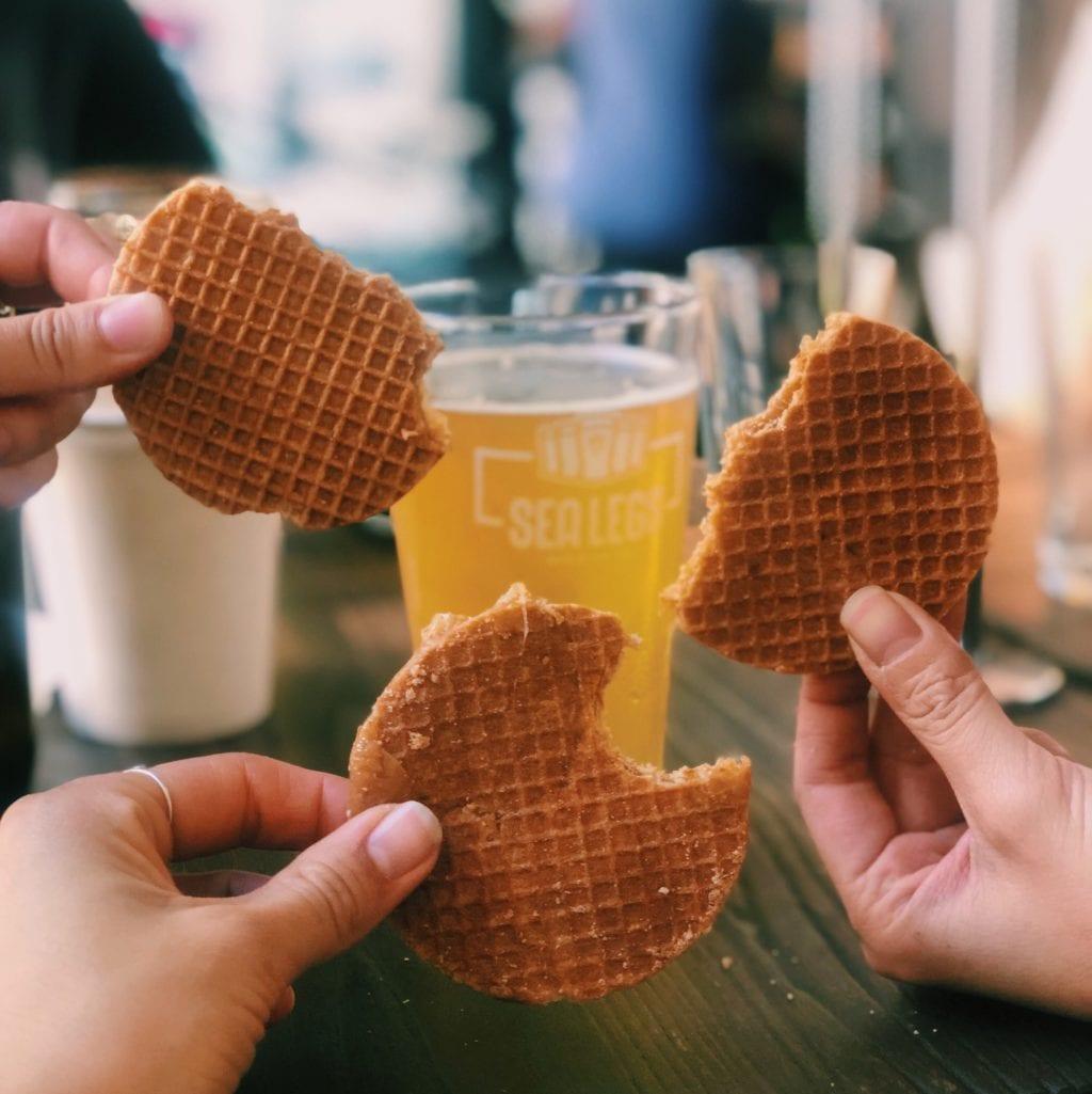 bier en stroopwafels