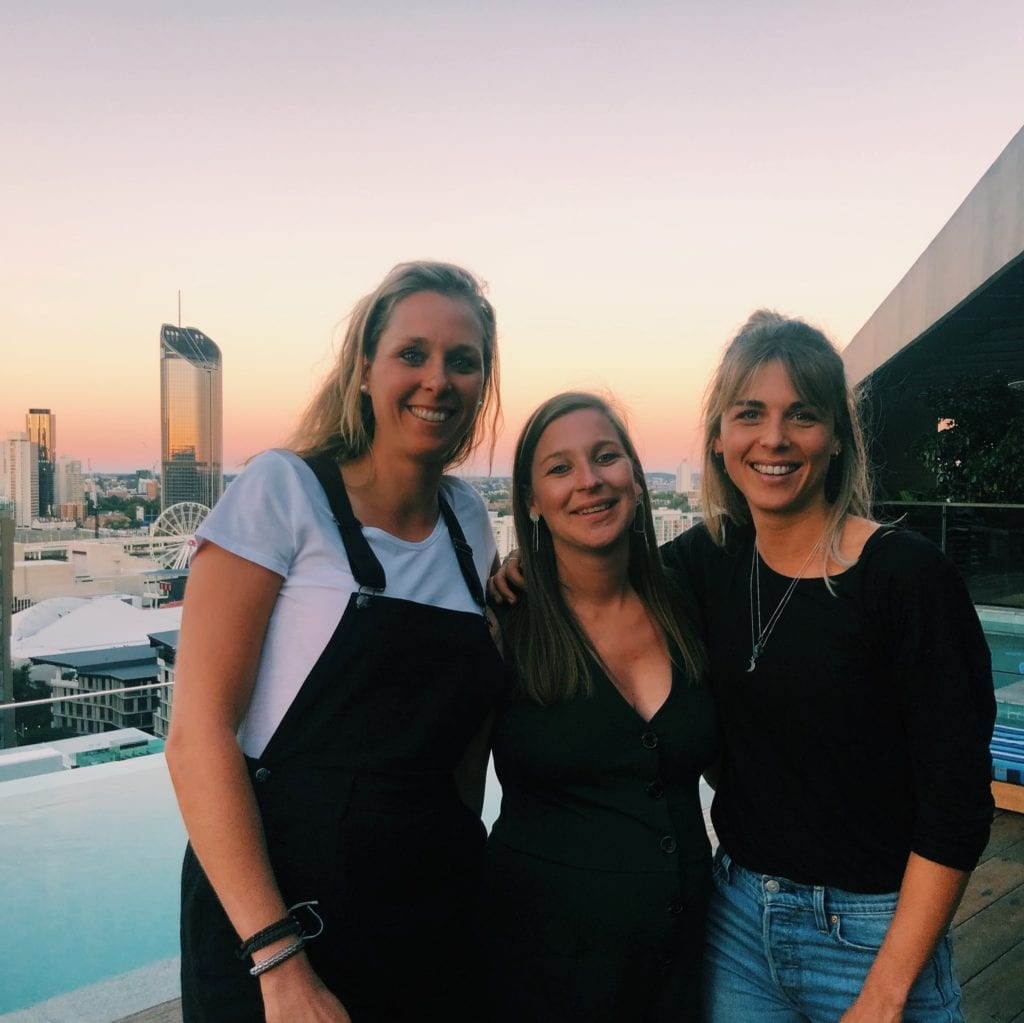 vriendinnen in Brisbane