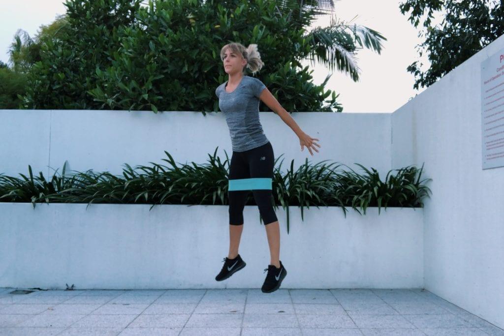 Weerstandsbanden: jump squat