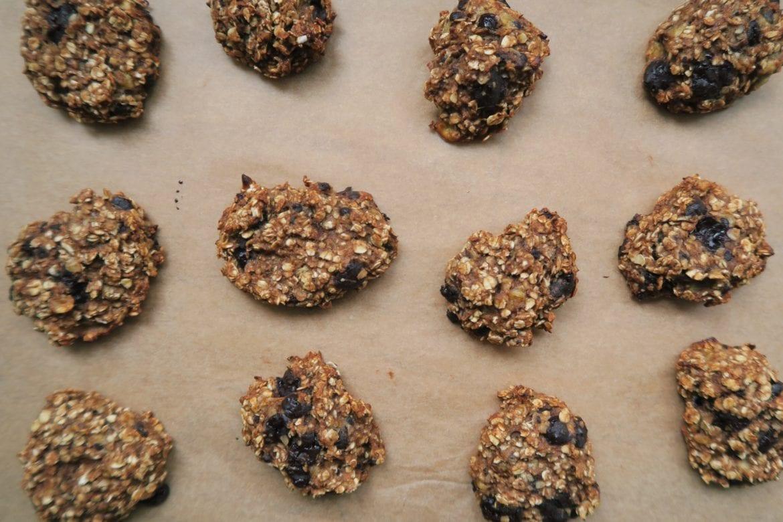 Banaan-havermout koekjes