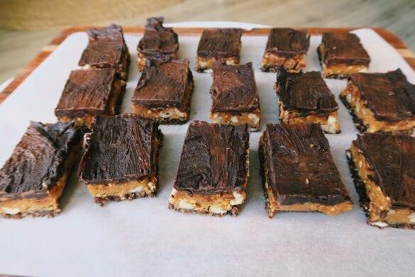 Snickers slices vegan en gezond