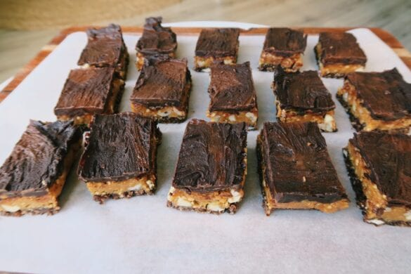 Snickers slices vegan en gezond
