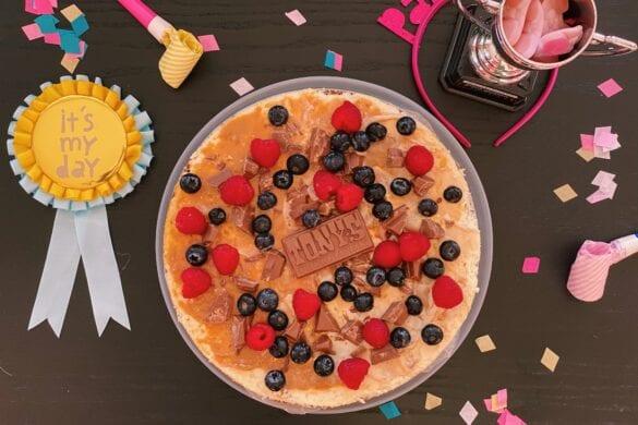 Pepernoten cheesecake met dulce de leche