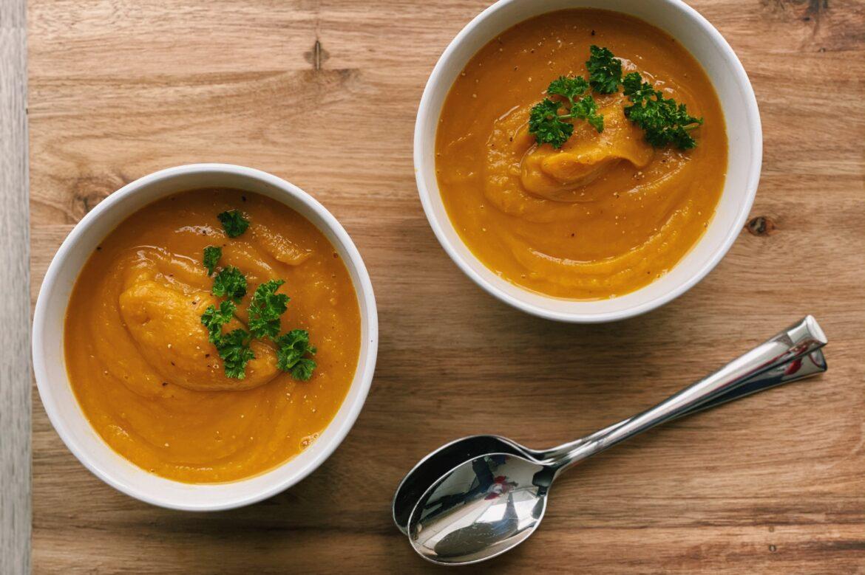 Pompoen - zoete aardappel soep