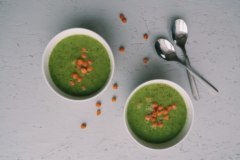 Broccoli courgette soep